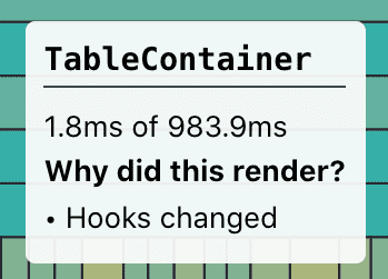 hooks changed in react dev tool